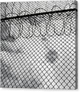 Forbidding Prison Fence Canvas Print