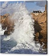 Force Of Breaking Waves Canvas Print