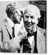 Ford And Edison, C1930 Canvas Print