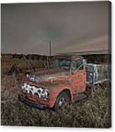 Abandoned Ford Farm Truck And Northern Lights Canvas Print