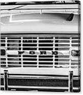 Ford Bronco Grille Emblem -0014bw Canvas Print