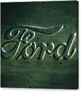 Ford Emblem -0113c Canvas Print
