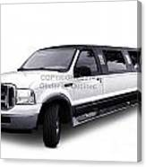 Ford Excursion Stretched Limousine Canvas Print