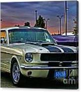 Ford Mustang At Sunset Canvas Print