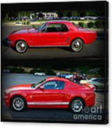 Ford Mustang Old Or New Canvas Print