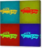 Ford Mustang Pop Art 1 Canvas Print