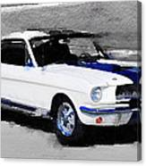 Ford Mustang Shelby Watercolor Canvas Print