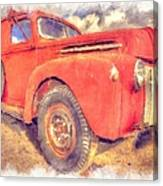 Ford Panel Truck Canvas Print