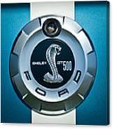 Ford Shelby Gt 500 Cobra Emblem Canvas Print