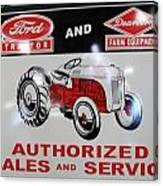 Ford Tractor Sign Canvas Print