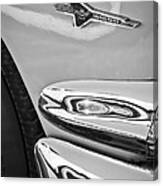 Ford Thunderbird Emblem -0505bw Canvas Print