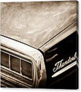 Ford Thunderbird Taillight Emblem Canvas Print
