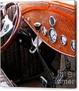 Ford V8 Dashboard Canvas Print