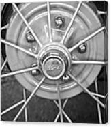 Ford Wheel Emblem -354bw Canvas Print