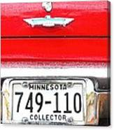 Ford With Minnesota Licence Plate Canvas Print