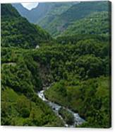 Moraca River And Mountains Canvas Print
