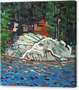 Forest Cottage Canvas Print