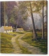 Forest Cottages Canvas Print