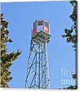 Forest Fire Watch Tower Steel Lookout Structure Canvas Print