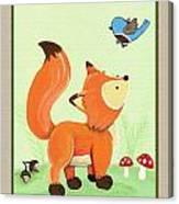 Forest Friends - Fox Canvas Print