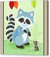 Forest Friends - Raccoon  Canvas Print