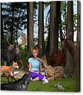 Forest Rendezvous Canvas Print