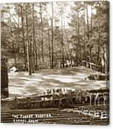 Forest Theater Carmel California  Circa 1930 Canvas Print