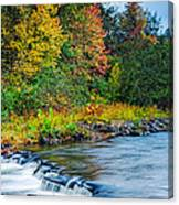 Foretelling Of A Storm Beaver's Bend Broken Bow Fall Foliage Canvas Print