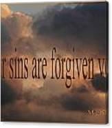 Forgiven Canvas Print