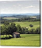 Forgotten Farmhouse In A Hot August Haze Canvas Print