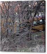 Forgotten Schoolbus Illinois Bend North Texas Canvas Print