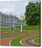 Formal Garden In Front Of The Palace Canvas Print