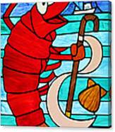 Formal Lobster Canvas Print