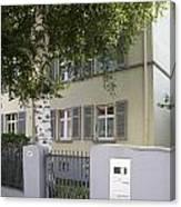 former home of Anne Frank Marbachweg Frankfurt am Main Germany Canvas Print