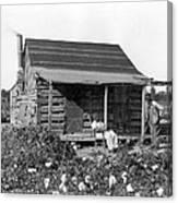 Former Slaves At Their Cabin Canvas Print