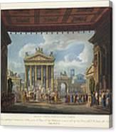 Foro Di Pompei Festivamente Adorno Canvas Print