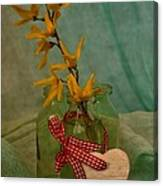 Forsythia Yellow Bells Canvas Print