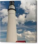 Fort Gratiot Lighthouse And Clouds Canvas Print