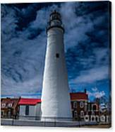 Fort Gratiot Lighthouse From The Water Side Canvas Print