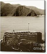 Fort Point And The Golden Gate San Francisco Circa 1890 Canvas Print