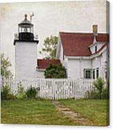 Fort Point Lighthouse Canvas Print