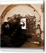 Fort Pulaski Canon Sepia Canvas Print
