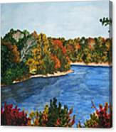 Fort Toulouse Coosa River In Fall Canvas Print