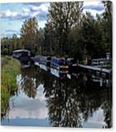 Forth Canal Reflection Canvas Print