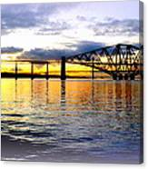 Forth Rail Bridge At Sunset Canvas Print