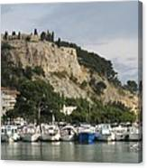 Fortress And Harbor Cassis Canvas Print