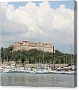 Fortress And Harbor - Cote D'azur Canvas Print