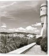 Fortress Overlooking Palma De Majorca Canvas Print