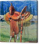 Forty Dollar Saddle Canvas Print