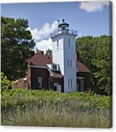 Forty Mile Point Lighthouse In Michigan Number 450 Canvas Print